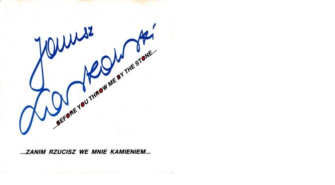 Janusz Laskowski – 1991 – …Zanim rzucisz we mnie kamieniem… [PNCD – 1991]